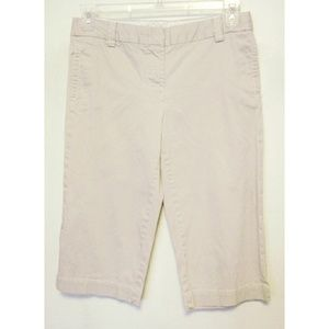 J Crew Stretch Beige Favorite Fit Capri Pants Sz 6